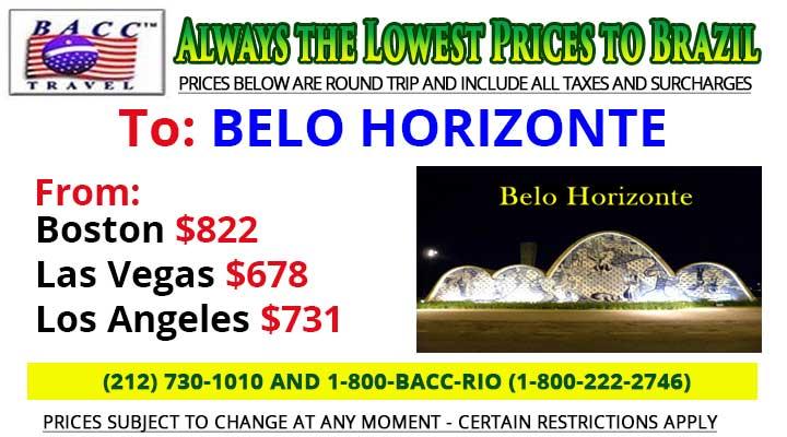 To Belo Horizonte Wednesday Special Deals