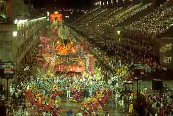 The Carnaval Parade on Sambodromo