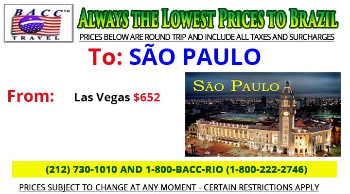 To Sao Paulo Wednesday Special Deals